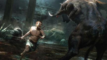 theseus fights the minotaur
