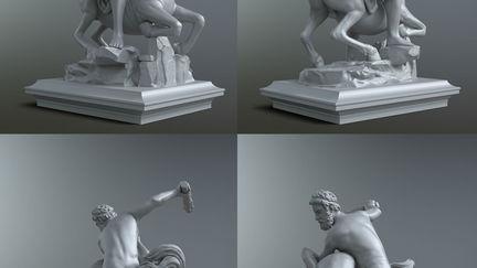 Hercules beating Nessus
