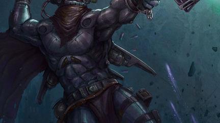Scifi cyborg warrior.