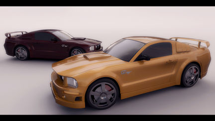 Mustang Yellow & Red