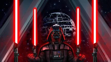 Darth Vader meditating