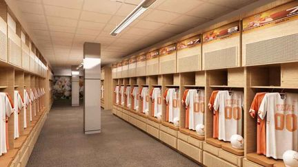 The University of Texas at Austin college football locker room remodeling project