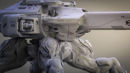Guardian 2.0 Clay render