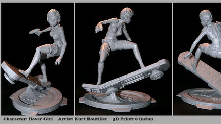 Hover Girl 3D print