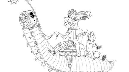 journey on a giant maggot