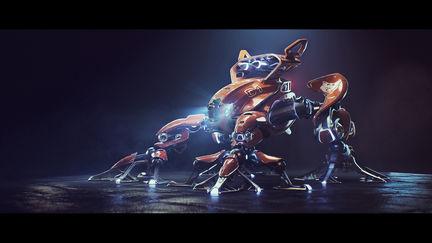 Mean Frog - Robot