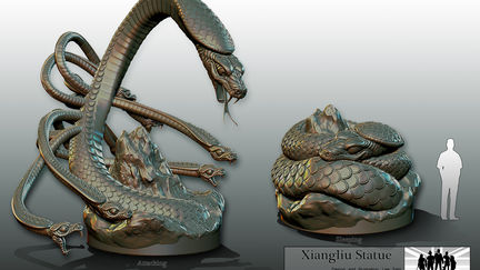 Concept design for Night at the Museum 3 creatures