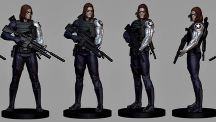 "Marvel Comics ""Winter Soldier"" Museum Statue for Bowen Designs"