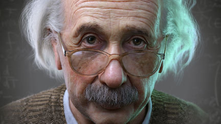 Albert Einstein 3D Portrait for a Hologram