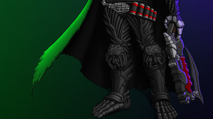 "Overwatch Reaper Tormented Souls"" skin concept art"