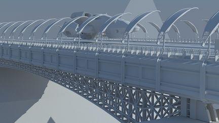 Bridge concept for a massive space facility