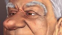 Boris Yeltsin Caricature, Mandrake (3D)