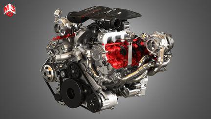 488 Pista Engine - V8 Twin Turbo Engine