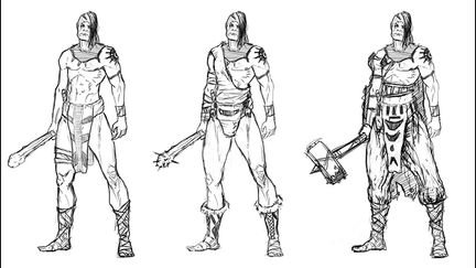 Warrior Character sketches