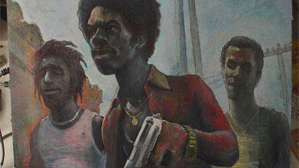 City Of God  Oil On Board Test For (in plan)Comics