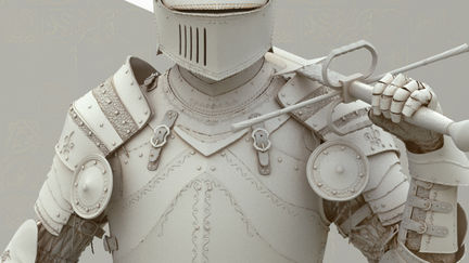 Medieval Knight Grey Model