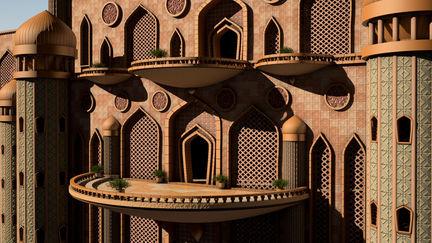 Arabian Palace Balcony