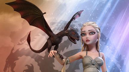 GOT: Daenerys and Dragon 3D