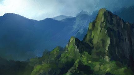 Machu Picchu Sketch