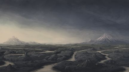 Volcanic Landscape Concept