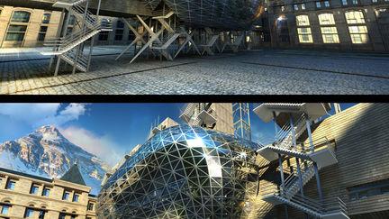 bubble building