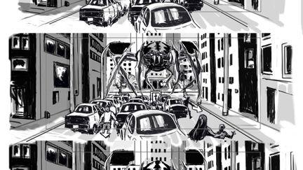 spider vfx storyboard page 2