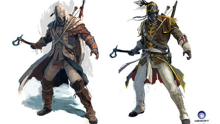 Assassin's Creed 3 Connor outfit designs