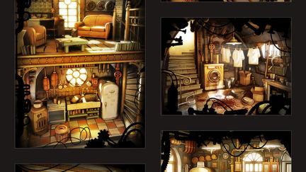 Metropolis Crimes illustrations from Olive2d