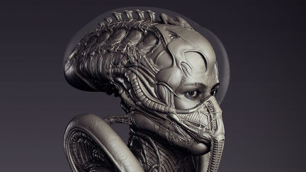 Segourney Weaver - Alien Suit - Sculpt WIP01