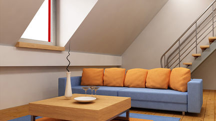 Studio type flat interior