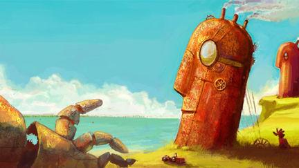 Easter Island (Steampunk CGChallenge)