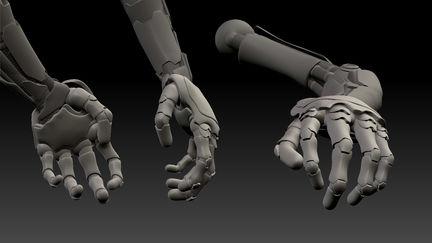 Human Robot close up