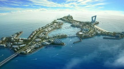 day render Dubai Island