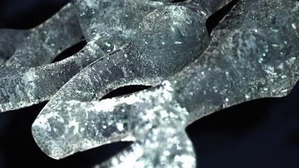 Closeup of Frozen water