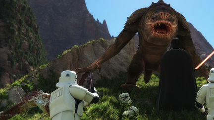 Darth Vader vs Rancor