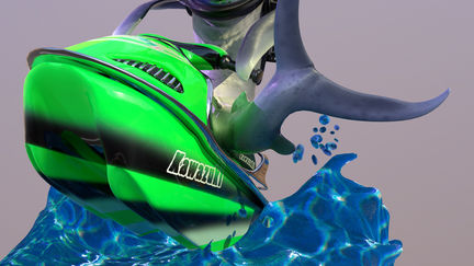 Shark on Jetski