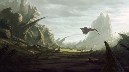 Bizzare landscape- concept painting