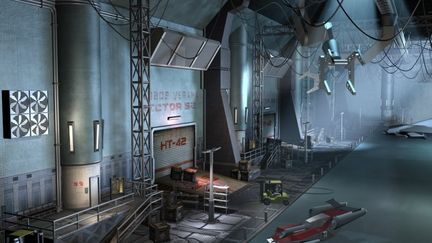 Phobos mining station hangar