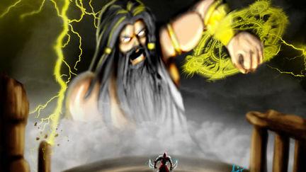 Kratos vs Zeus