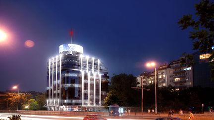 Bulgaria Tower Night
