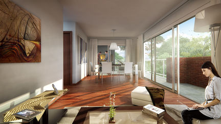 "Interior view1 of the project ""Bosques"""