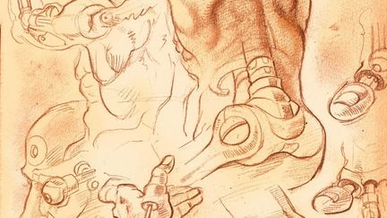 Cyber Michelangelo Sketch