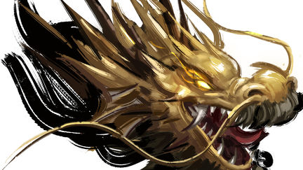 THE CHINESE DRAGON HEAD