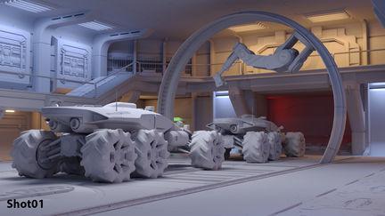 Sci-fi interior study