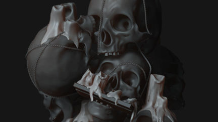 skulls chandelier