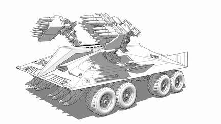 concept military vehicle - hog tank