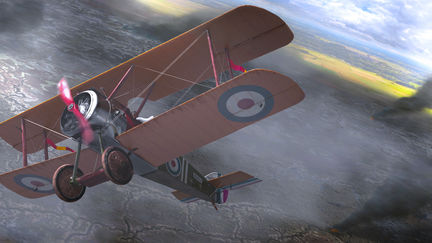 Sopwith Camel - Above the trenches