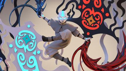 Avatar Aang ,Raava and Vaatu