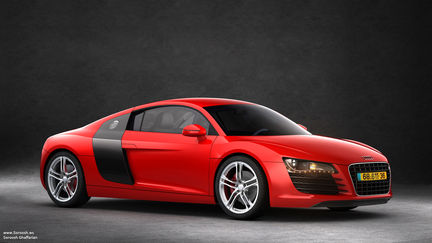 Audi R8 (studio lighting)
