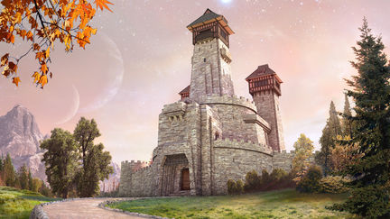 Castle Thorburn - matte painting